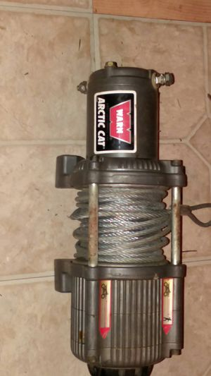 3000 pound warn ATV winch like new call if interested {contact info removed} for Sale in Richton, MS