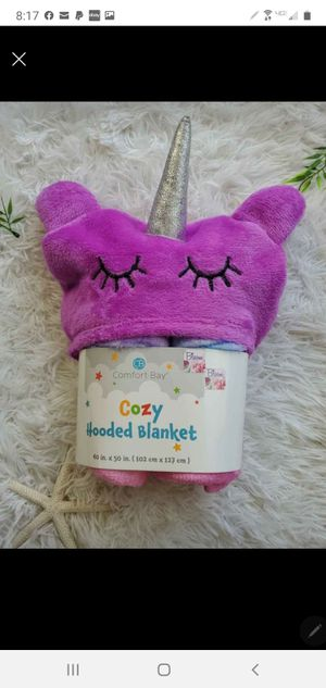 Cozy Unicorn 🦄 Hooded Snuggy Blanket for Sale in Hubert, NC