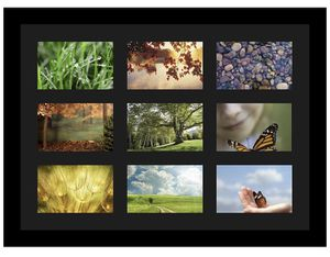 "Black 17x23"" Collage Photo Frame Single Mat with 9-4x6"" Openings for Sale in San Diego, CA"