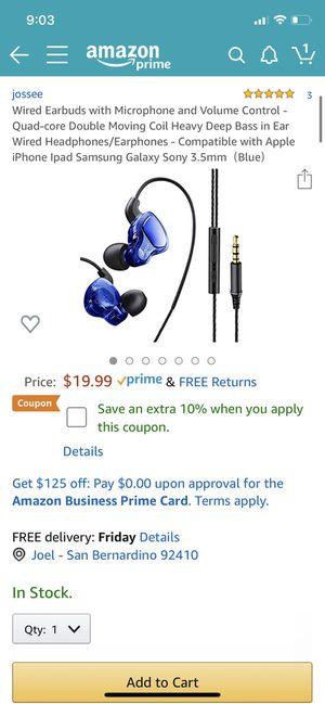 Wires earbuds for Sale in San Bernardino, CA