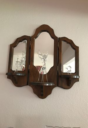 Wood wall frame with three mirrors for Sale in Irwindale, CA