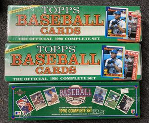 3 1990 Topps & Upper Deck Sealed Baseball Card Sets New for Sale in Brea, CA