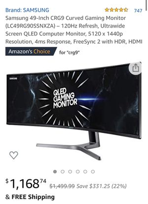 Samsung Odyssey 49-inch Gaming Monitor for Sale in Las Vegas, NV