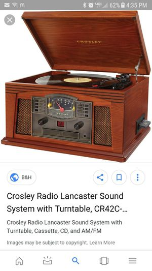 old fashioned record player with radio and CD and cassette for Sale in Cornelius, OR