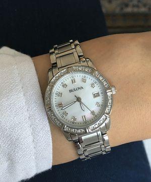Bulova women watch with genuine diamonds for Sale in San Bernardino, CA