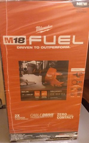 Milwaukee M18 FUEL Cordless Drain Cleaning Snake Kit for Sale in Bellevue, WA