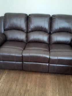 Brown Leather Sofa And Loveseat Recliners !! Brand New for Sale in Chicago,  IL