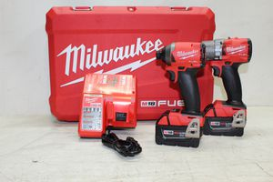 M18 FUEL 18-Volt Lithium-Ion Brushless Cordless Hammer Drill and Impact Driver Combo Kit (2-Tool) with Two 5Ah Batteries for Sale in Bakersfield, CA