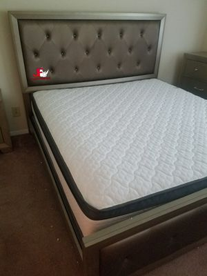 Brand.! Queen size bed with tufted headboard and matching footboard😍Take it home with only$39Down - No credit needed - Hablamos Español 🙋🙂 for Sale in Greensboro, NC