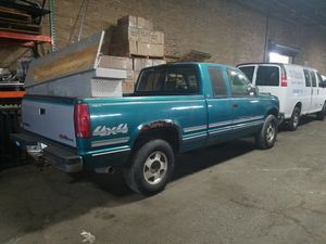 Chevy silverado 94 title selling as is with extra parts .hood fenders mirrows.and bumper was working maybe a fuel pump problem for Sale in Maywood, IL