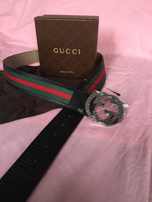 Gucci Black Green Red Signature Web Belt 95/38 + more sizes available for Sale in New York, NY