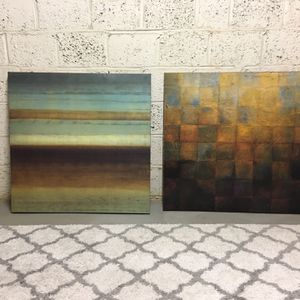 """Two Large Wall Hangings - 34.5"""" x 34.5"""" for Sale in Arlington, VA"""