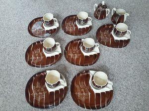 1950s Purinton Slipware Luncheon Sets (7)+Sugar&Creamer+1 Extra Plate for Sale in Media, PA