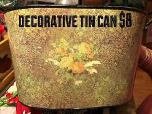 Decorative tin pot for Sale in Orondo, WA