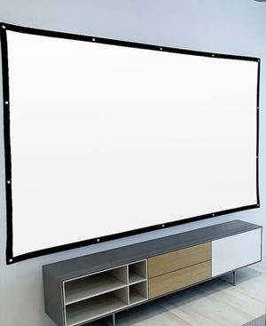NEW 120 Inches 16:9 Ratio Indoor Outdoor Wrinkle Free Foldable Projector Home Theater Movie Screen Only for Sale in Whittier, CA