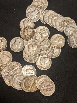 30 Mercury Dimes 90% Silver for Sale in Mount Airy,  MD