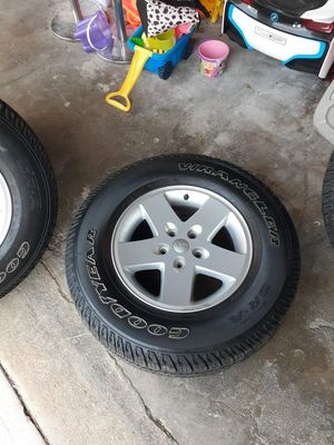 2015 jeep wrangler wheels w/ tires 50% for Sale in North Providence, RI