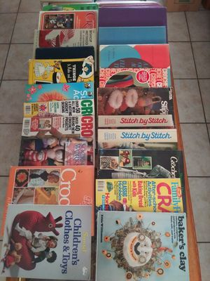 Collection of Sewing, Crafts, Knitting, and Crochet Books and Magazines -- Take whole collection for $5 -- MOVING! Everything must go! for Sale in Phoenix, AZ