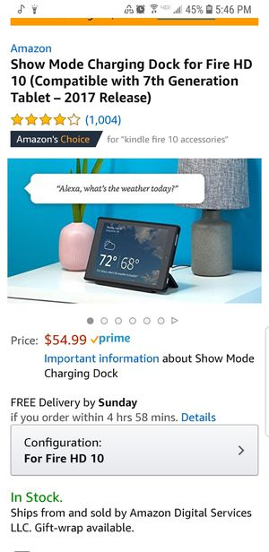 Docking charging station Amazon kindle fire tablet 10 for Sale in Indianapolis, IN