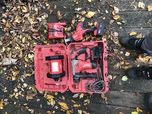 Milwaukee Hammer Drill Kit w/ Light and Saw for Sale in Capitol Heights, MD