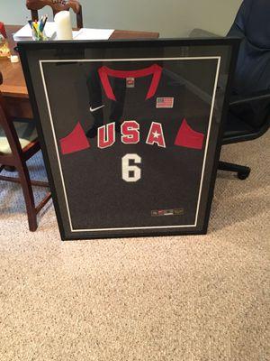LeBron James 2008 Olympics Jersey - FRAMED for Sale in Ashburn, VA