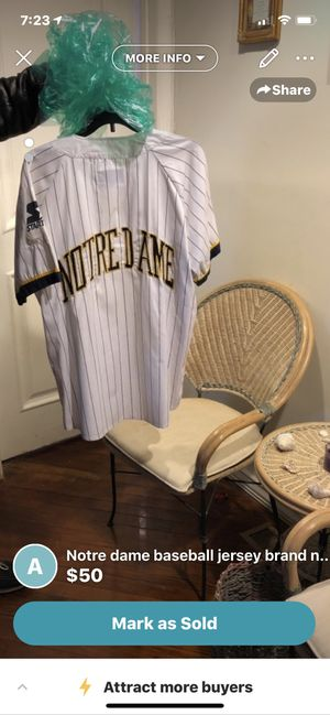 Notre dame baseball jersey for Sale in Woolwich Township, NJ