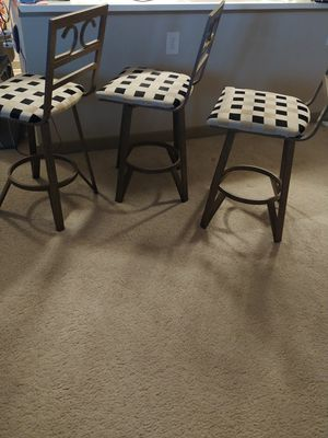 Set of 3 Counter Chairs by Ashley Furniture for Sale in NO POTOMAC, MD