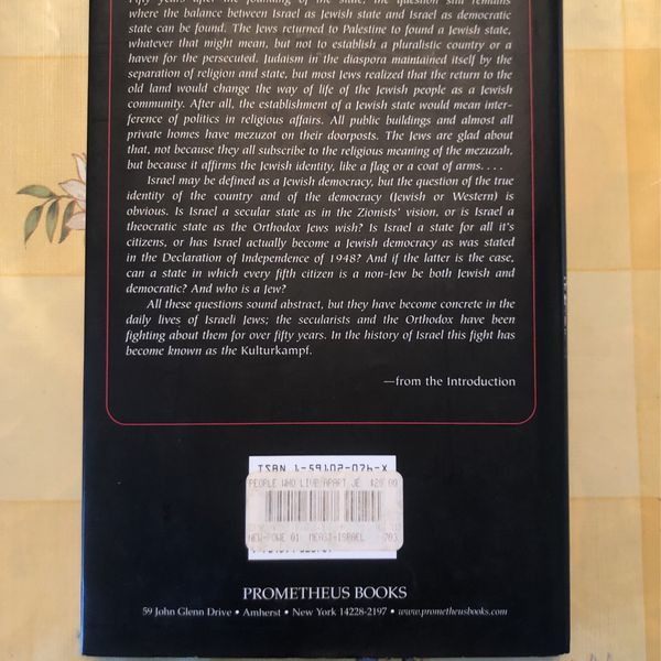 A People Who Live Apart Jewish /Israel Book By ELS Van Diggele - BOGO Of Equal Or Lesser Value
