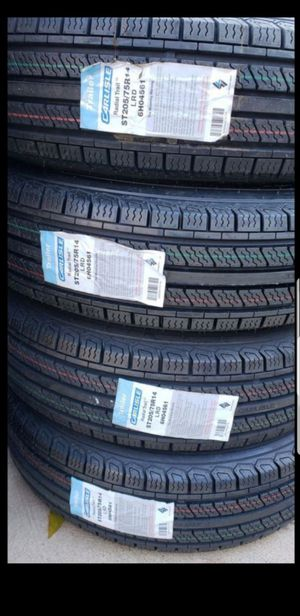 4 New ST205/75R14 Load D 8ply Trailer Tires 205-75-14 inch tire 205/75/14 R14 for Sale in Moreno Valley, CA
