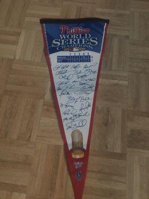 Philadelphia Phillies 2008 with all signatures for Sale in Alpharetta, GA