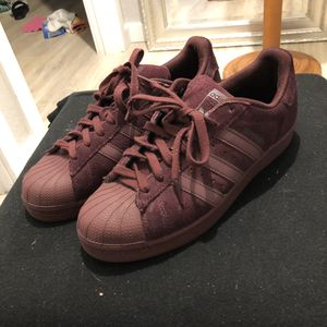 🔥WINE COLORED ALL SUEDE ADIDAS SUPERSTAR SHELL TOES🔥 for Sale in Shoreline, WA
