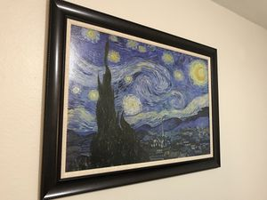 Starry night painting print for Sale in Portland, OR