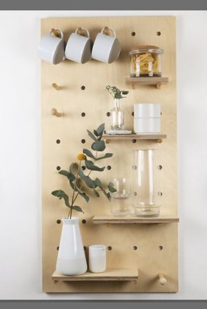 Wooden Pegboard/ display board/ shelving unit/ wall organizer / bathroom storage/ kitchen storage / flexible storage for Sale in Tustin, CA