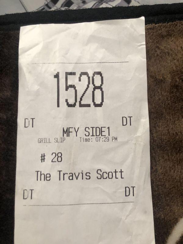 Travis Scott McDonalds meal ticket
