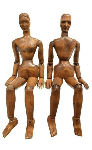 French Carved Articulated Wood Models for Sale in Los Angeles, CA