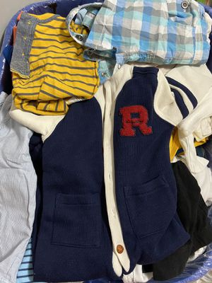 Bin of Baby boy clothes. Newborn to 6 months for Sale in Wakefield, MA