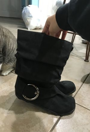 Baby Girl Black Boots Size 5 for Sale in Spring, TX