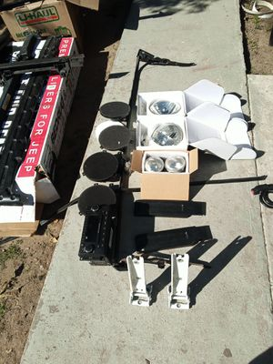 07 and up Jeep Wrangler 2 door. Top parts and lights and radio cd. All original parts for Sale in Norwalk, CA