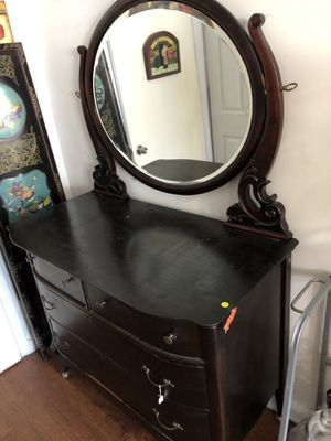 Antique armoire with mirror for Sale in Fort Lauderdale, FL