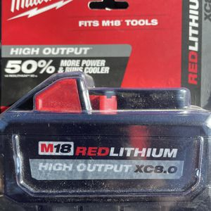 Milwaukee M18 Red Lithium XC 8.0 for Sale in Oakland, CA