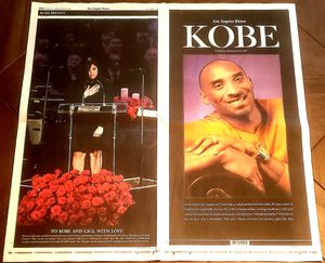 KOBE BRYANT LA Times 2/25/20 Newspaper 24 Page Memorial Tribute Also Featuring Michael Jordan for Sale in Murrieta, CA