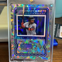 2020 Cracked Ice Ronald Acuna Contenders 12/23 for Sale in Jacksonville,  FL