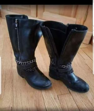 Girls Size 11 Black Leather Biker Style Boots for Sale in Westport, CT