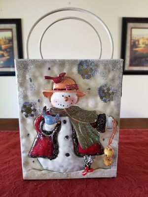 Christmas Decorative Metal Candle Holder for Sale in West Haven, CT