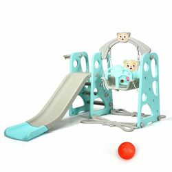 P18-24 .... 3 in 1 Toddler Climber and Swing Slide Set w/ Basketball Hoop & Ball Home Playset for Sale in City of Industry,  CA