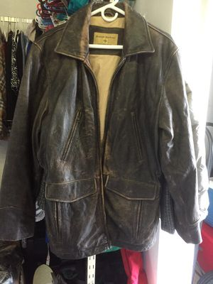 Men's leather jacket. Medium( oversized) for Sale in West Palm Beach, FL
