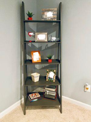 Brand New 5 Tier Grey Wood Ladder Shelf (New in Box) for Sale in Kensington, MD