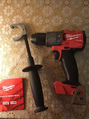 Milwaukee. M18 FUEL Lithium Ion Brushless Premium Hammer Drill Driver (Tool Only). 2804-20. for Sale in Queens, NY