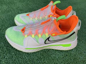 """Nike Shoes PG 4 Paul George """"Gatorade"""" size 10.5 White/Multi-color. CD5078 100 for Sale in Post Falls, ID"""