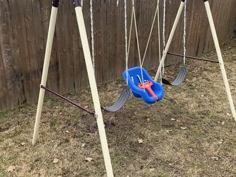 Free Swingset And Kids Slide for Sale in Providence,  RI